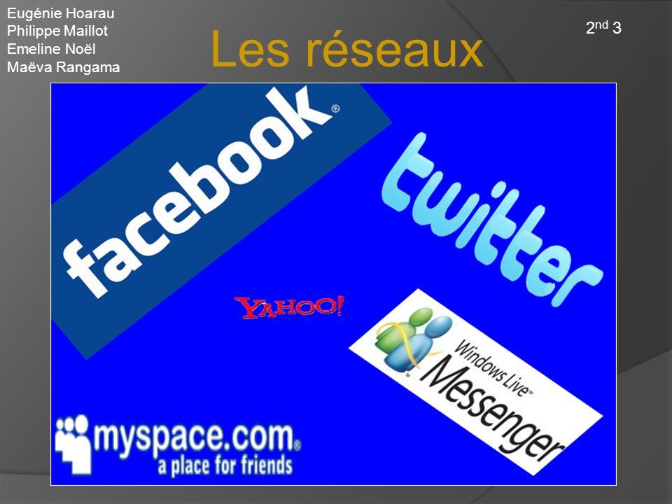 Les réseaux sociaux 2nd 3 Eugénie Hoarau Philippe Maillot Emeline Noël