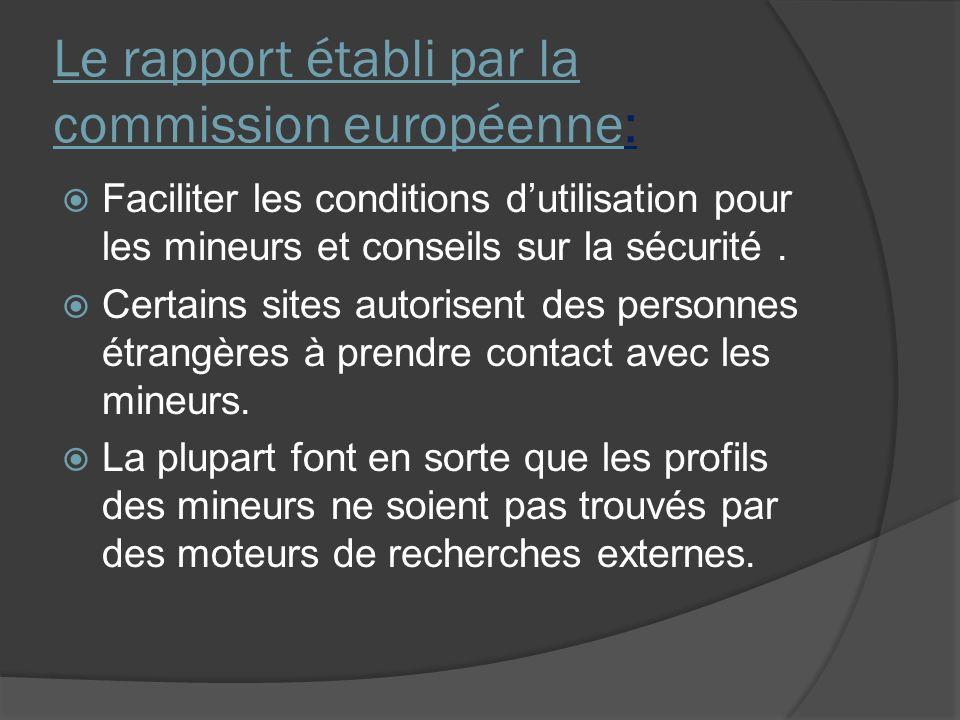 Le rapport établi par la commission européenne: