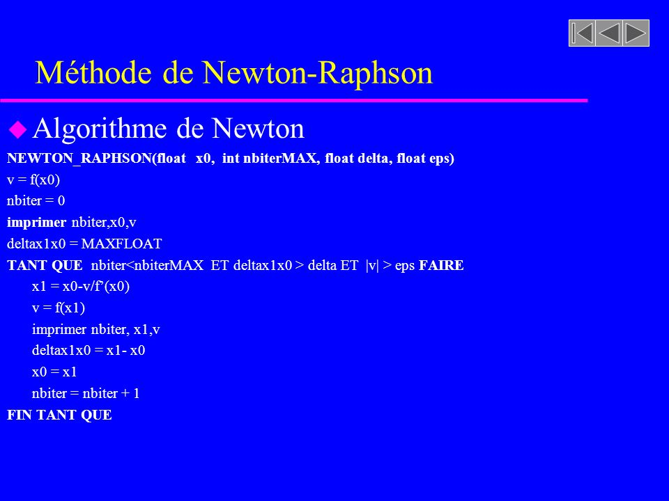 Méthode de Newton-Raphson