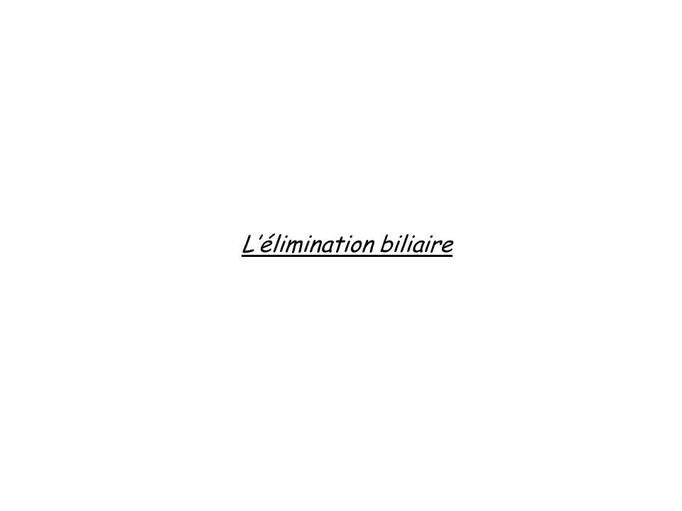 L'élimination biliaire