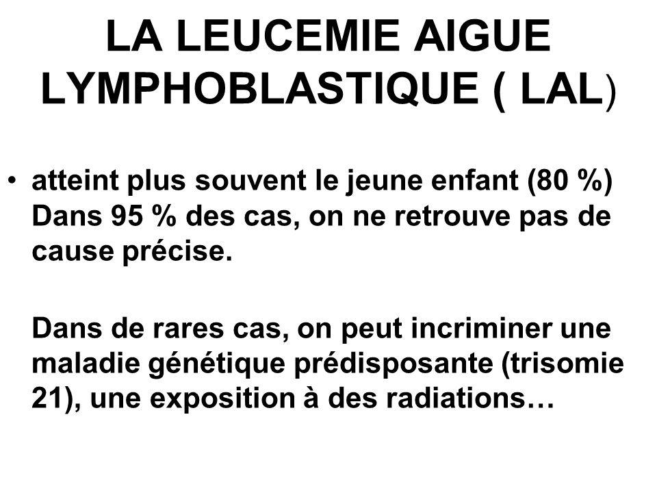 LA LEUCEMIE AIGUE LYMPHOBLASTIQUE ( LAL)