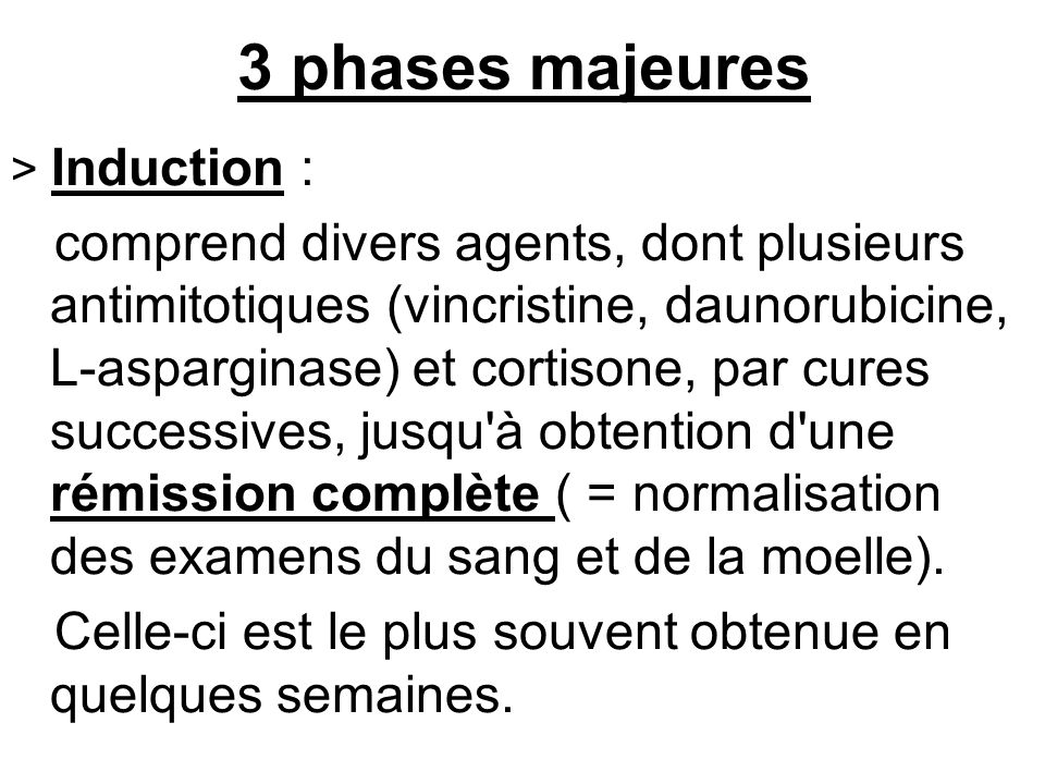 3 phases majeures > Induction :