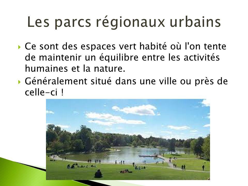 Les parcs régionaux urbains