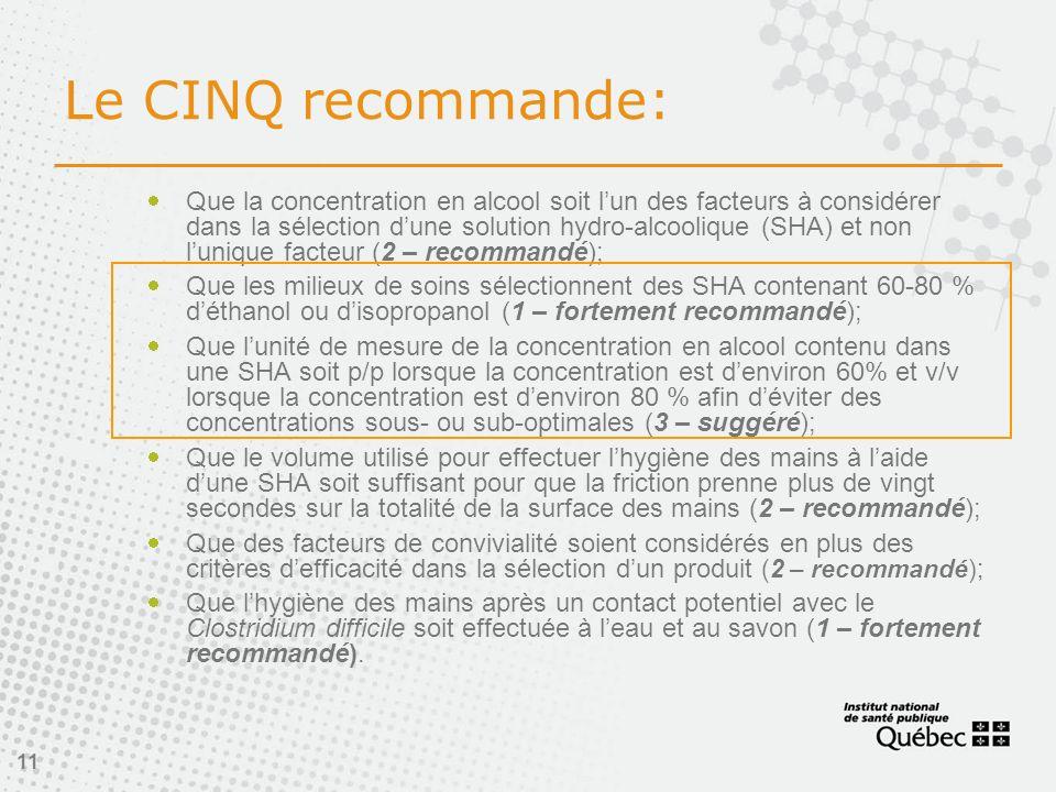 Le CINQ recommande: