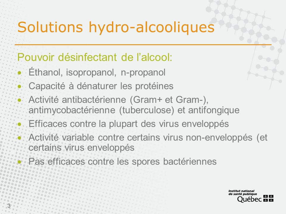 Solutions hydro-alcooliques