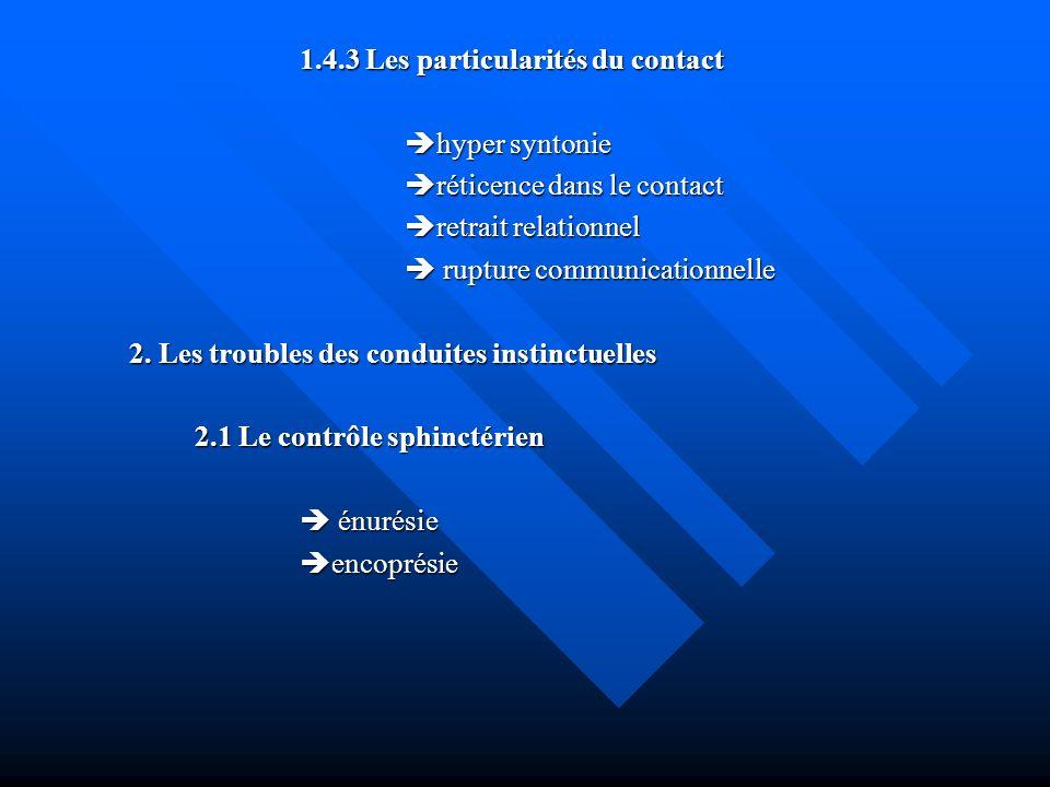 1.4.3 Les particularités du contact