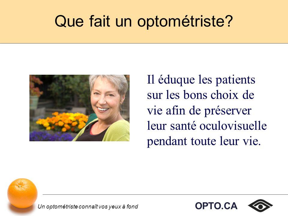 Que fait un optométriste