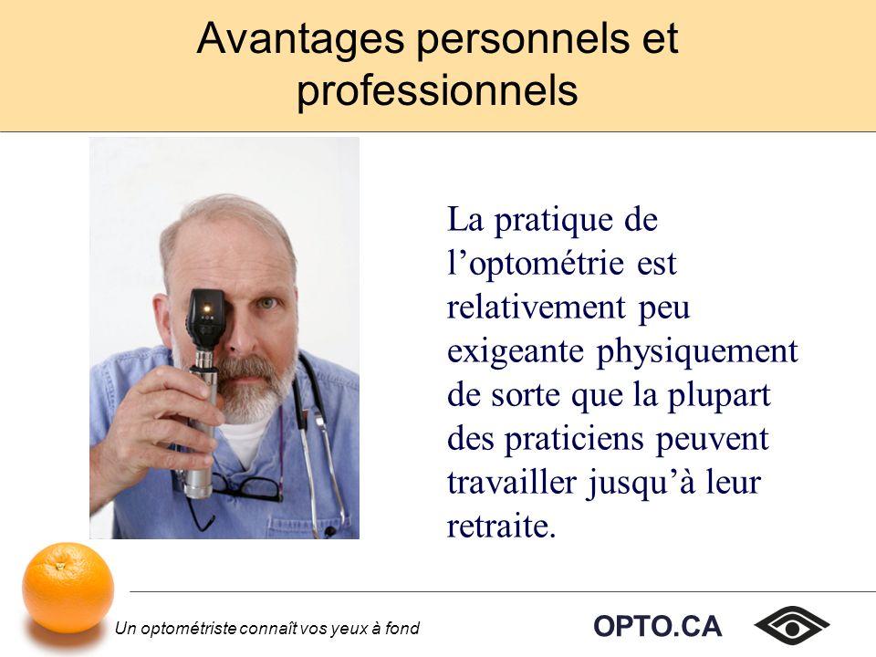 Avantages personnels et professionnels