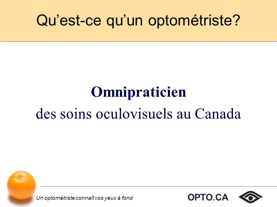 Qu'est-ce qu'un optométriste