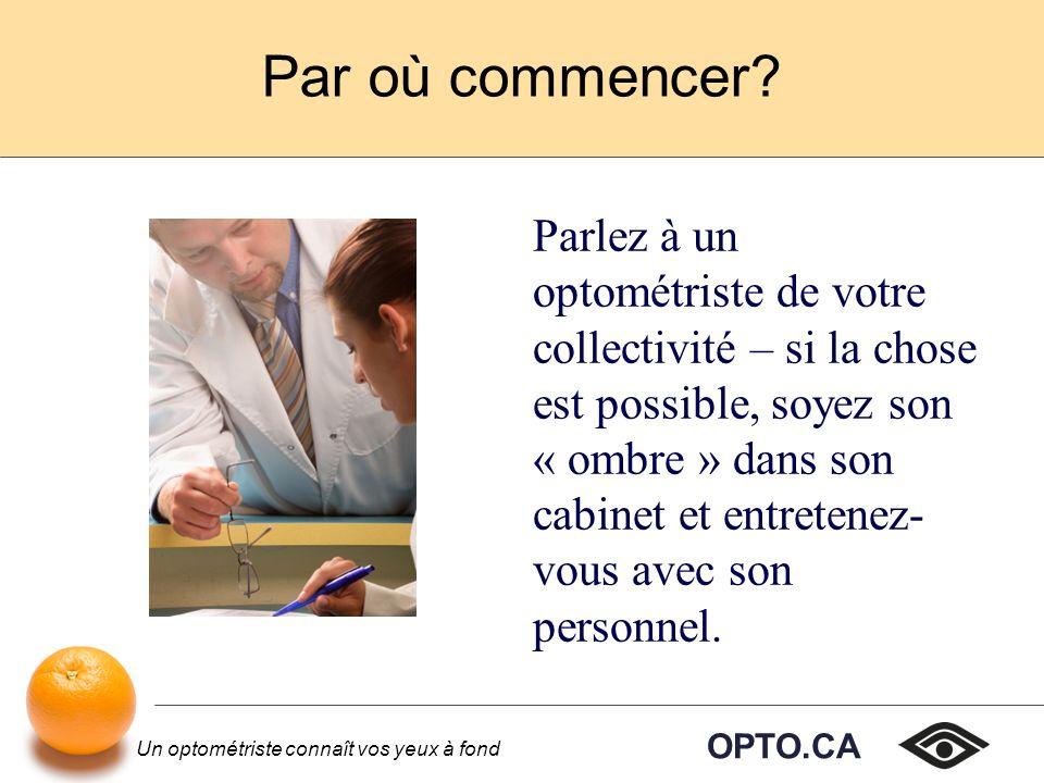 Un optométriste connaît vos yeux à fond