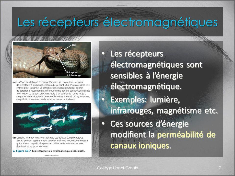 Les récepteurs électromagnétiques