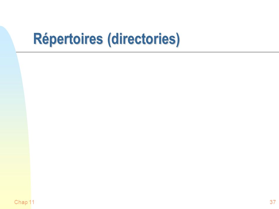 Répertoires (directories)