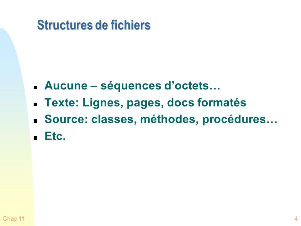Structures de fichiers