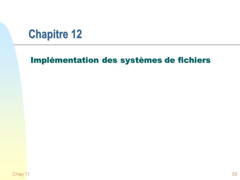 Implémentation des systèmes de fichiers