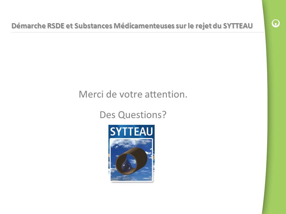 Démarche RSDE et Substances Médicamenteuses sur le rejet du SYTTEAU