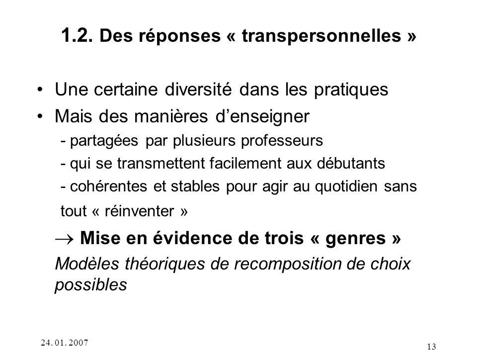 1.2. Des réponses « transpersonnelles »