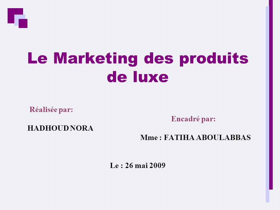 Le Marketing des produits