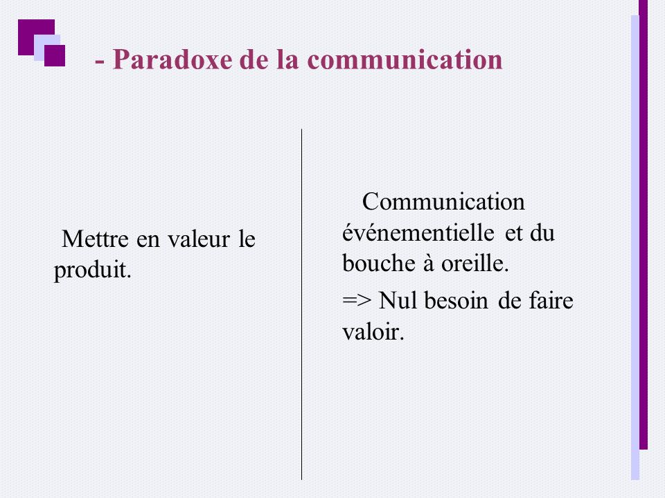 - Paradoxe de la communication