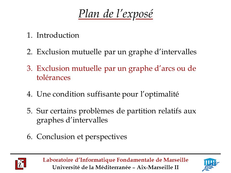 Plan de l'exposé 1. Introduction