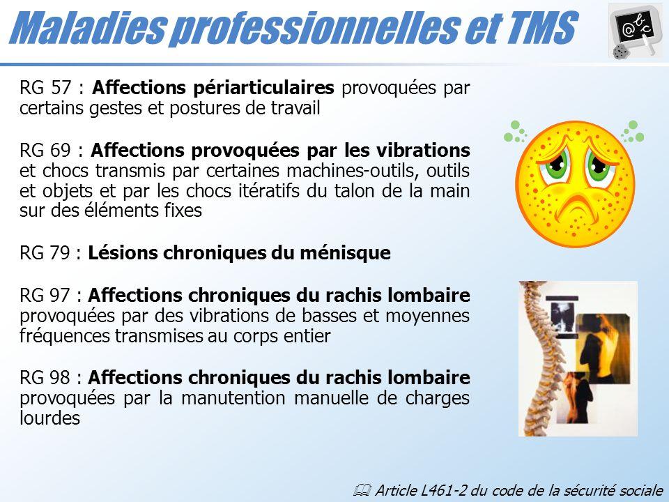 Maladies professionnelles et TMS