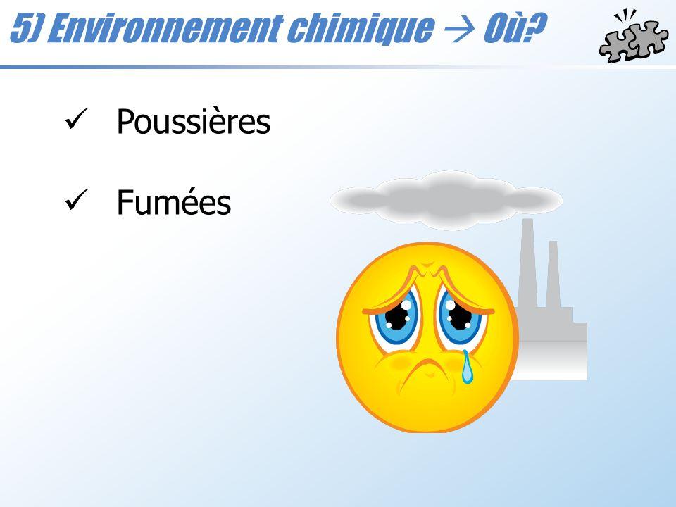 5) Environnement chimique  Où