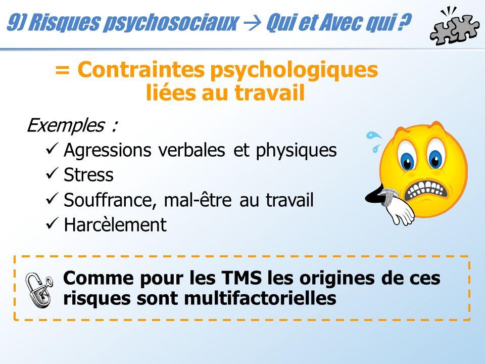 = Contraintes psychologiques liées au travail