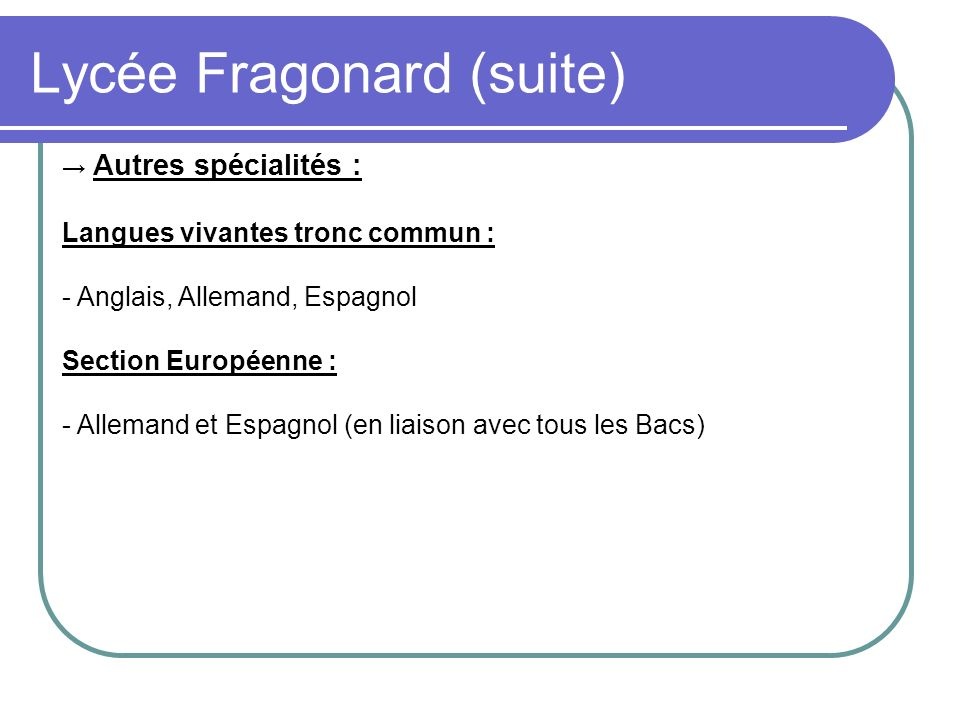 Lycée Fragonard (suite)