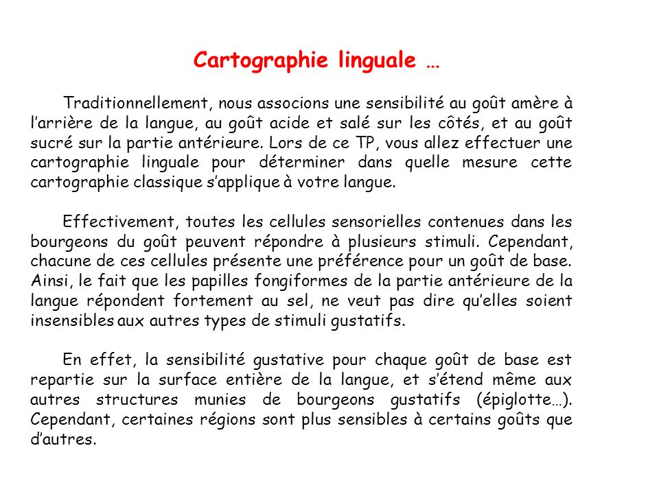 Cartographie linguale …