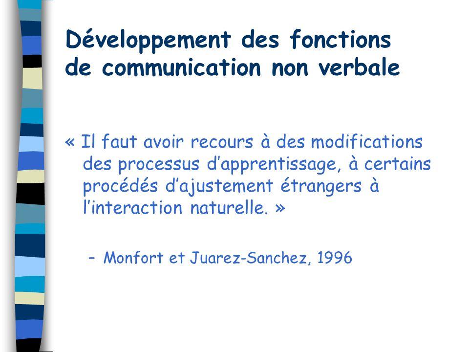 Développement des fonctions de communication non verbale