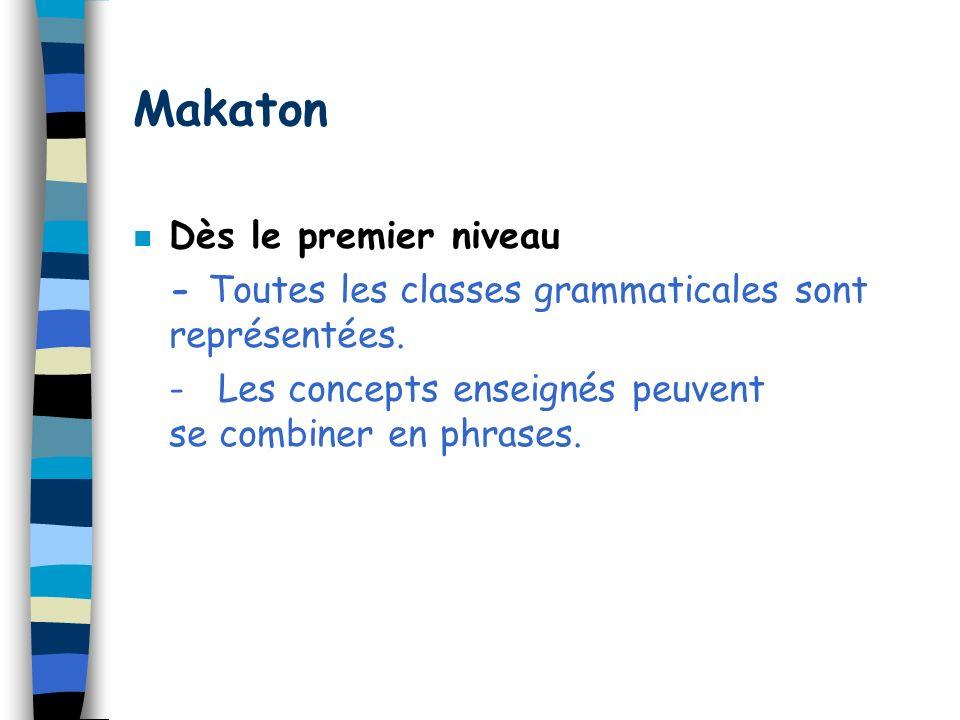 Makaton Dès le premier niveau
