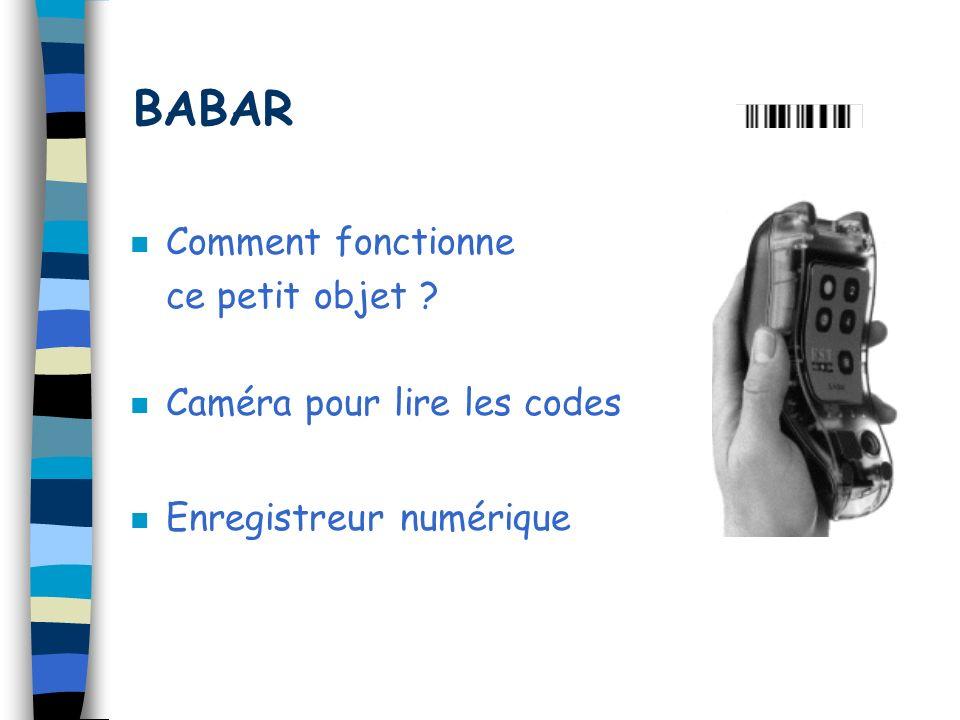 BABAR Comment fonctionne ce petit objet Caméra pour lire les codes