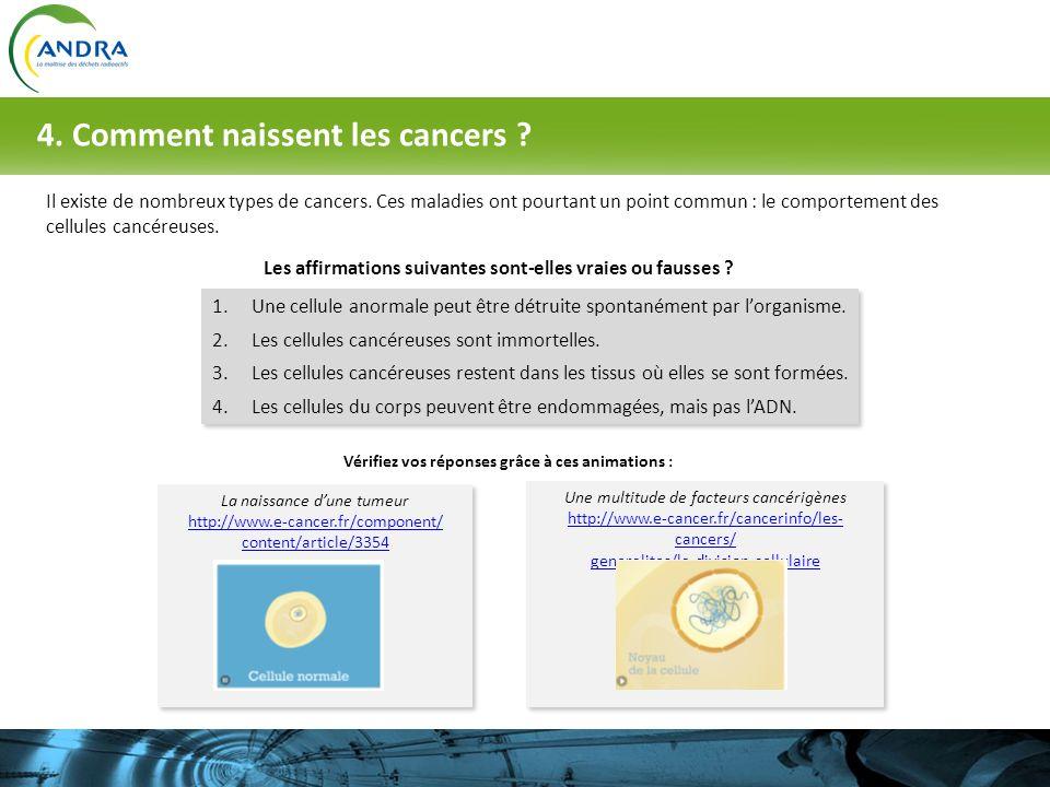 4. Comment naissent les cancers