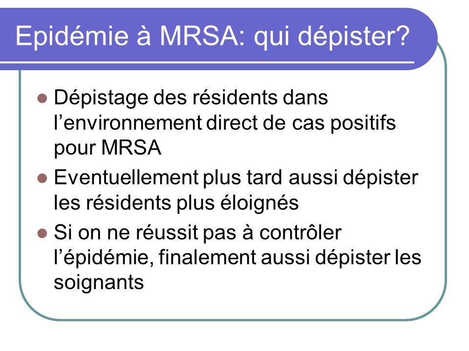 Epidémie à MRSA: qui dépister
