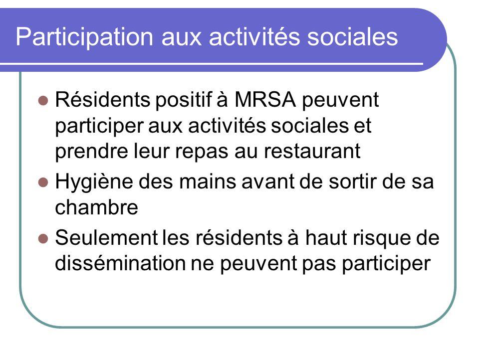 Participation aux activités sociales