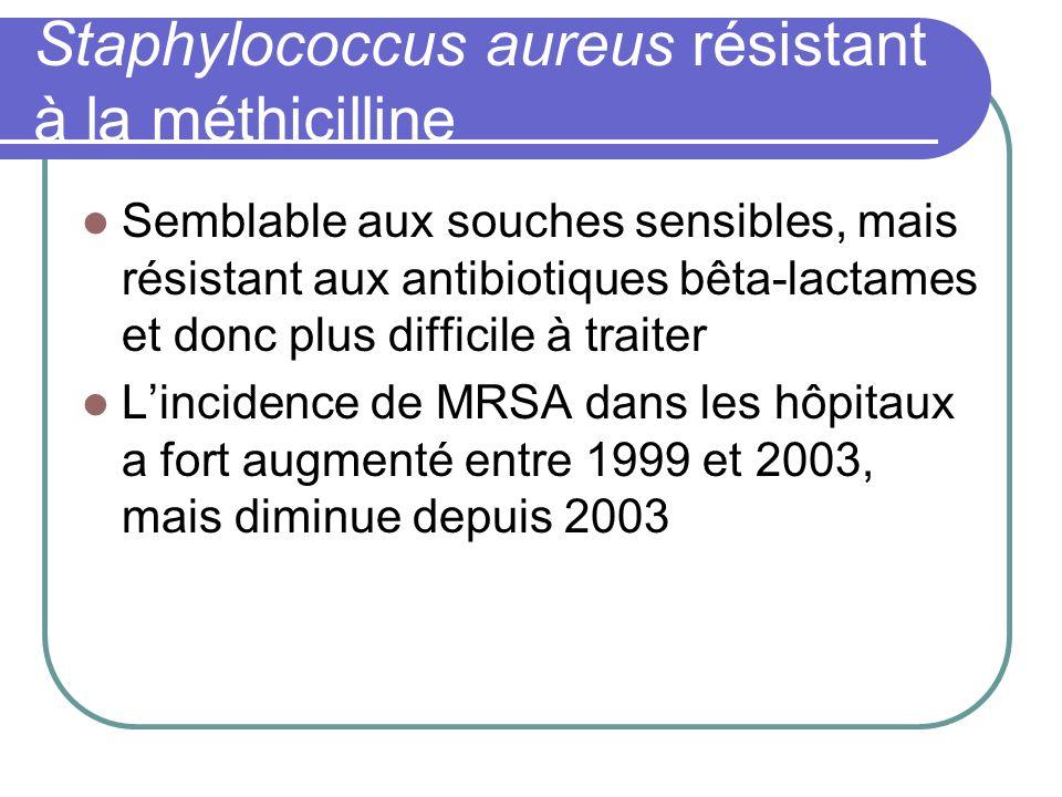 Staphylococcus aureus résistant à la méthicilline