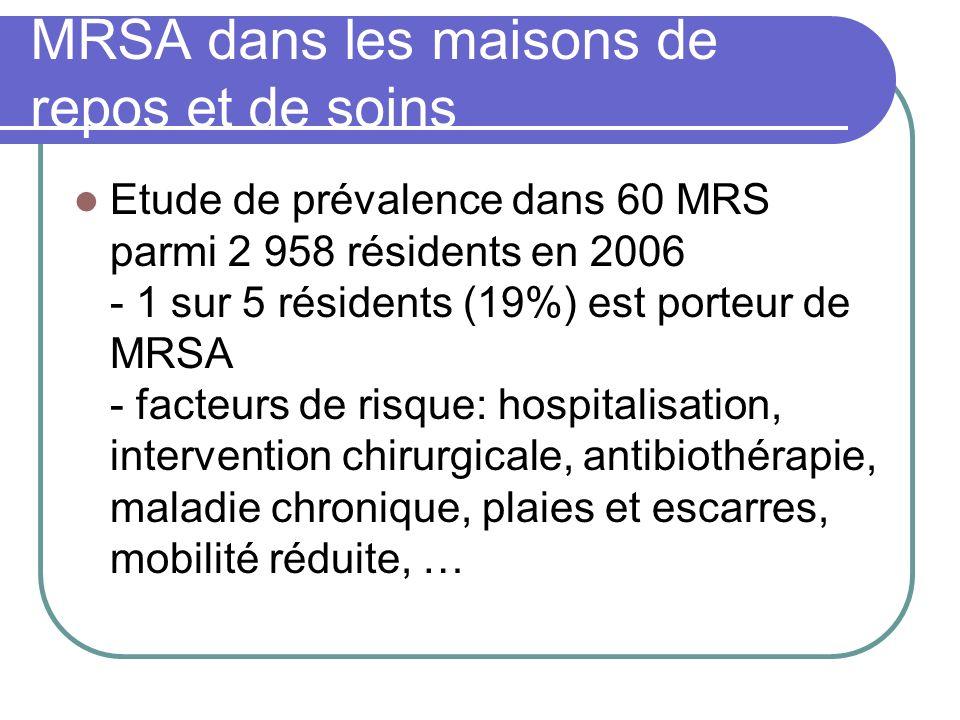 MRSA dans les maisons de repos et de soins