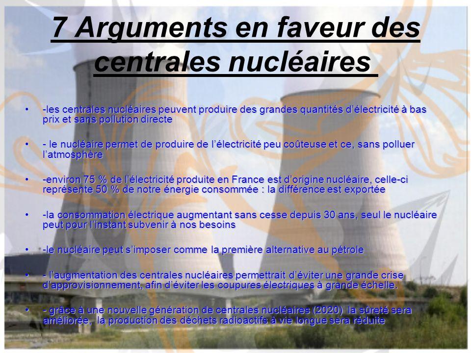 7 Arguments en faveur des centrales nucléaires