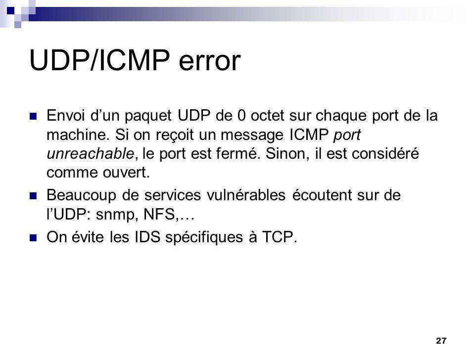 UDP/ICMP error