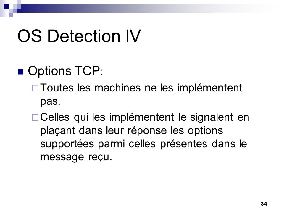 OS Detection IV Options TCP: