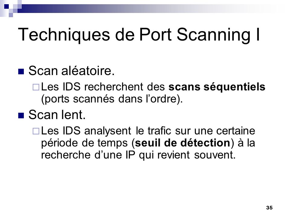 Techniques de Port Scanning I