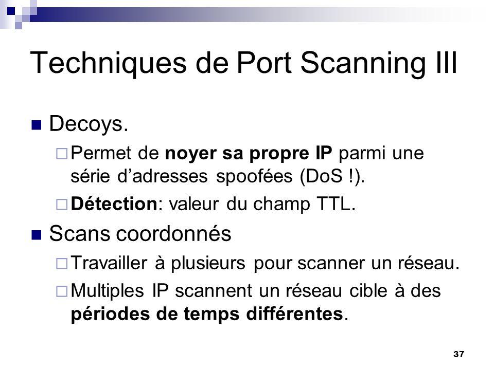 Techniques de Port Scanning III