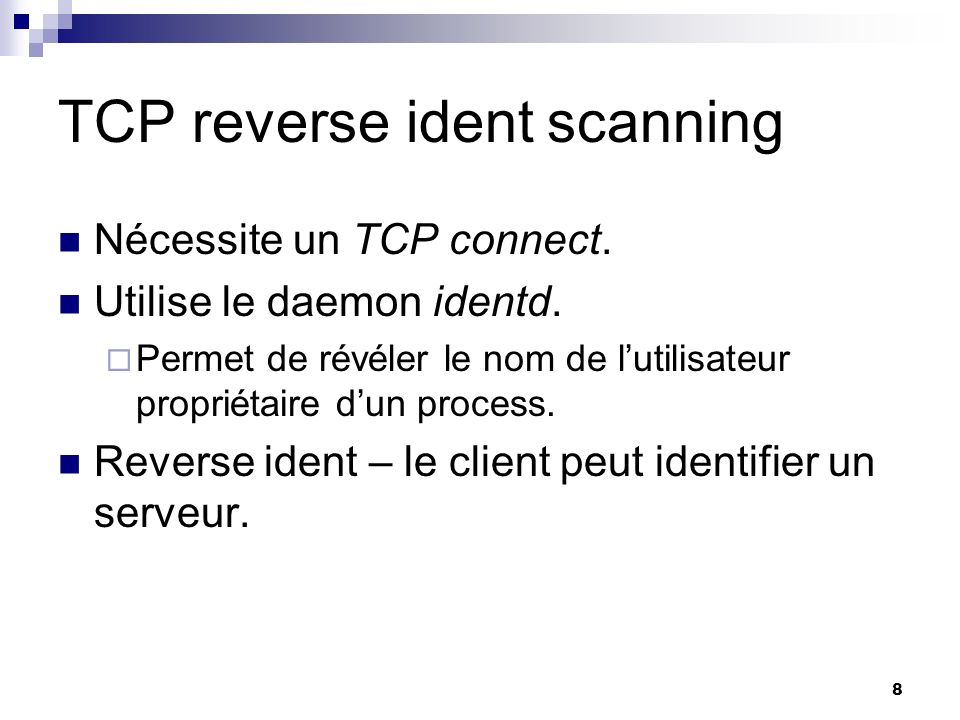 TCP reverse ident scanning