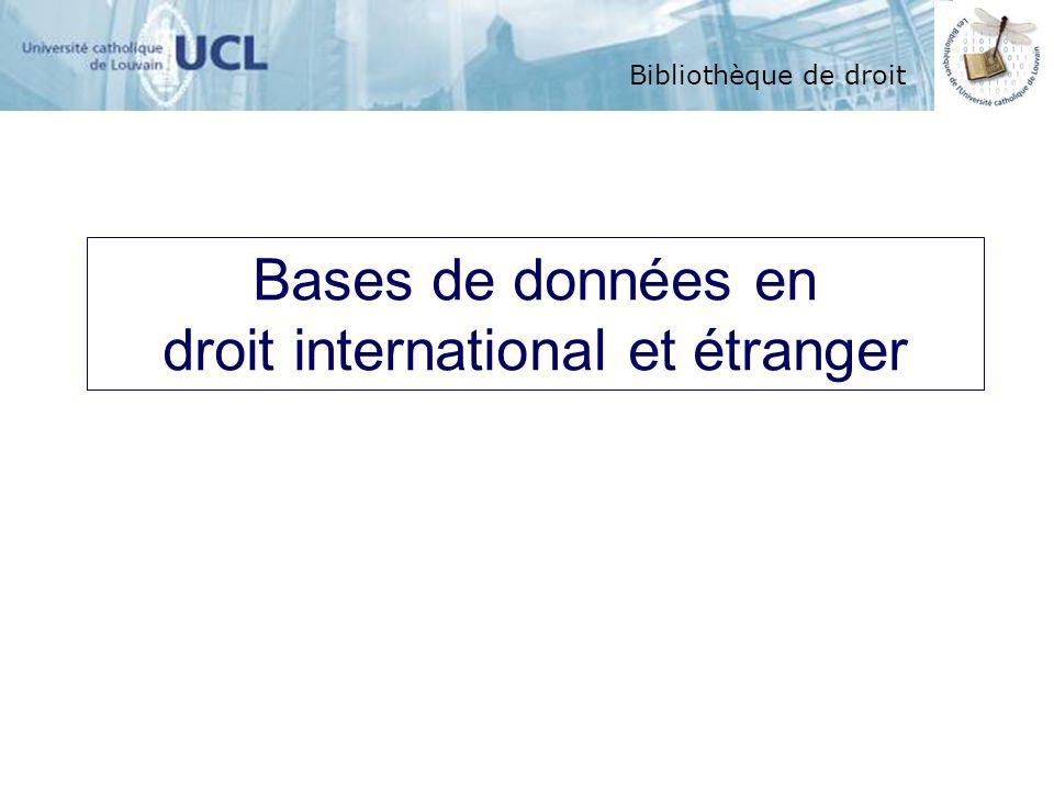 droit international et étranger
