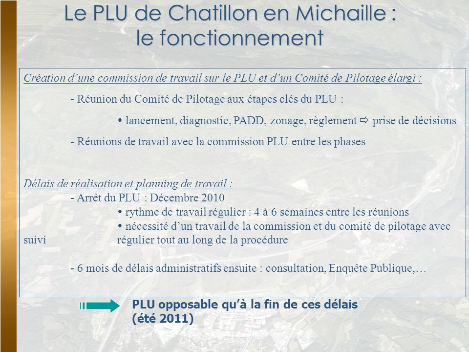 Le PLU de Chatillon en Michaille : le fonctionnement
