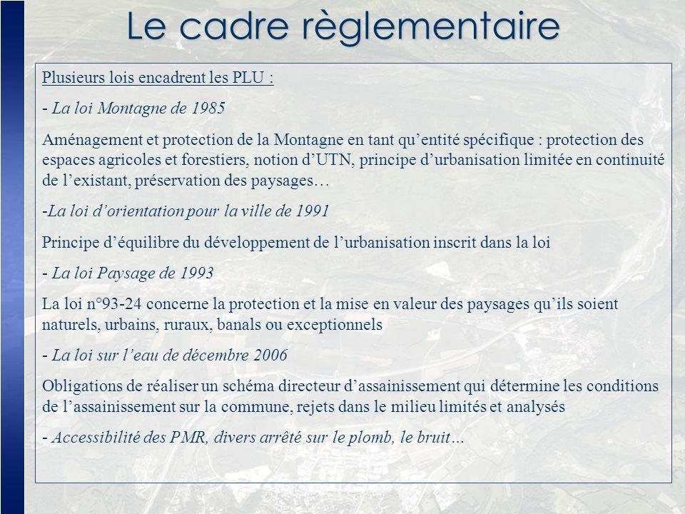 Le cadre règlementaire