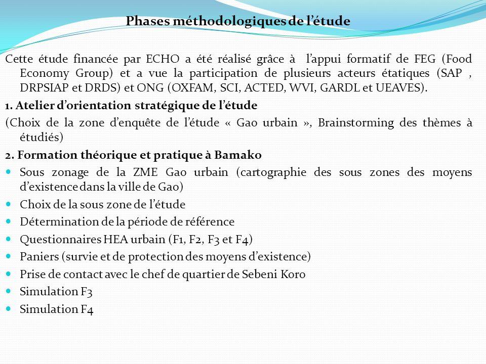 Phases méthodologiques de l'étude