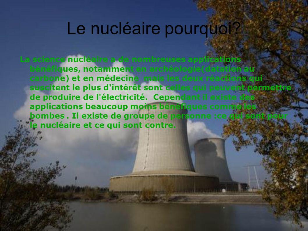 Le nucléaire pourquoi