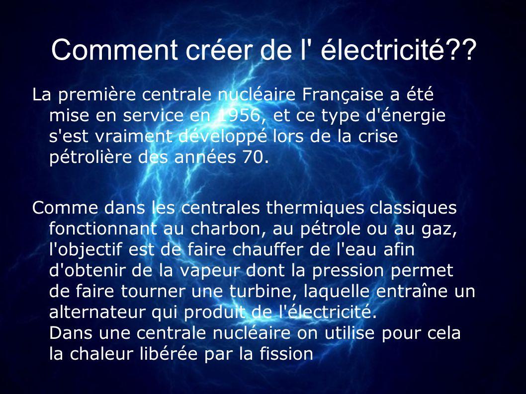 Comment créer de l électricité