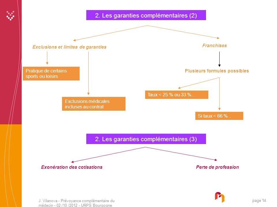2. Les garanties complémentaires (2)