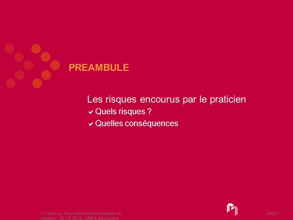 Les risques encourus par le praticien